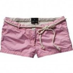 Maison Scotch pink shorts with rope belt